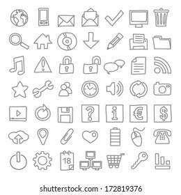 49 hand-drawn web icons