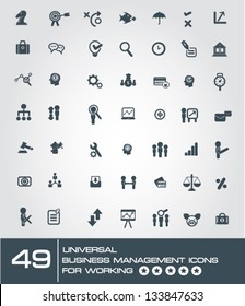 49 universal business management icon set for working,vector