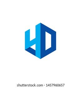4D Logo Symbol Simple & Modern Design