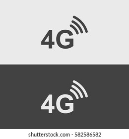 4g black and white icons.illustration isolated vector sign symbol