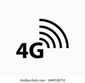 4g icon vector logo template