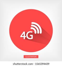 4G icon vector . Lorem Ipsum Flat Design