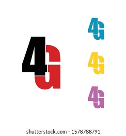 4G logo icon design vector
