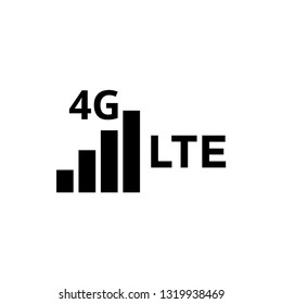4g lte icon design template vector isolated illustration
