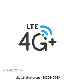 4g Lte icon, line sign - vector illustration eps10
