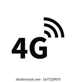 4G, 4G LTE icon vector logo template
