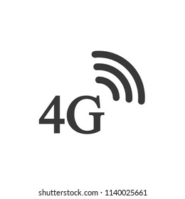 4g lte sign isolated on white background. Wireless connection, mobile internet. Vector flat illustration