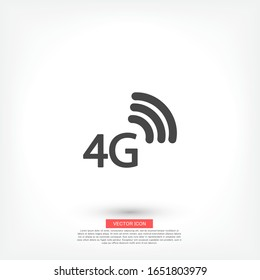 4G outline icon isolated on a beautiful background. 4G symbol for website design, mobile app, logo, user interface. Editable stroke. Vector 4G illustrator. EPS 10 4G