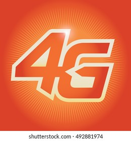 4G sign icon. Mobile telecommunications technology symbol.