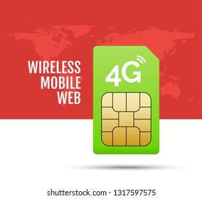 4g sim card world prepaid internet gsm phone technology. Simcard satellite global network.