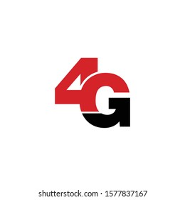4G simple logo icon design vector