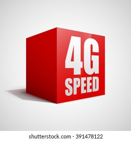 4G speed red cube.