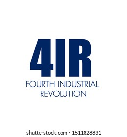 4IR written . Fourth industrial revolution business banner concept