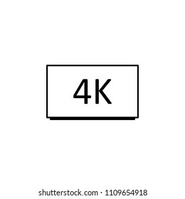 4k cinema icon. Element of cinema icon. Premium quality graphic design icon. Signs and symbols collection icon for websites, web design, mobile app colored background