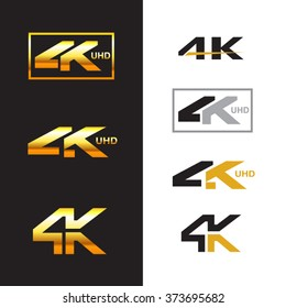4k logo sign label emblem