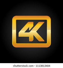 4K resolution golden icon for web and mobile