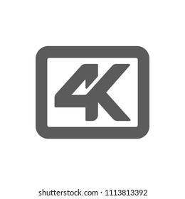 4K resolution gray icon for web and mobile