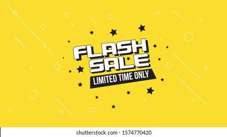 4K Resolution Modern Flash Sale Sign Background for Desktop Landing Page, Website Header, Banner or Poster