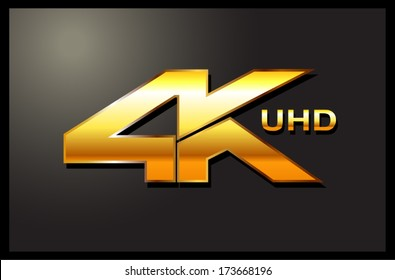 4k sign label emblem