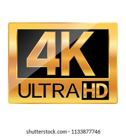 4K Ultra HD resolution icon for web and mobile