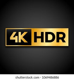 4K Ultra HD symbol, High definition 4K resolution mark, UHD - 2160p