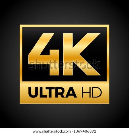 4k Ultra Hd Symbol High Definition 4k Resolution Mark Uhd 2160p