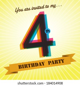 4th birthday images stock photos vectors shutterstock