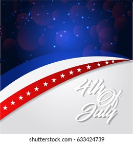 4th of July - Abstract Flag Design - Independence Day in the United States of America