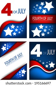 4th of July, American independence day background set