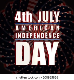 4th of July, American Independence Day celebrations on shiny fireworks background.