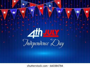 4th of July - American Independence Day Background for greeting cards, posters, leaflets and brochure