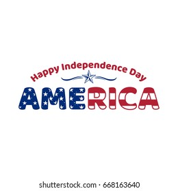 4th of July, American Independence Day design vector.  Suitable for t-shirt printing as Screen Painting, Direct to Garment, Transfer Painting, Cad Cut Vinyl and Embroidery.