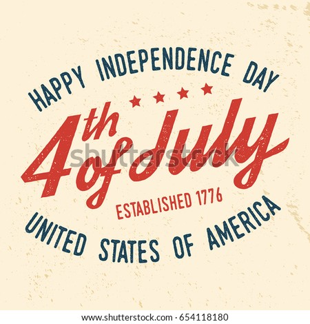 60ab8fc683f915 4th of july design in retro style. Fourth of July felicitation classic  postcard. Independence day greeting card. Patriotic banner for website  template.