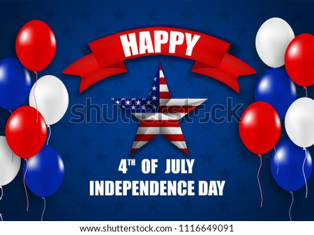25dc3d17e02 4th July Happy Independence Day USA Stock Vector (Royalty Free ...