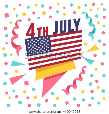 9f24361a1de8 4th July Holiday Banner Creative Paper Stock Vector (Royalty Free ...