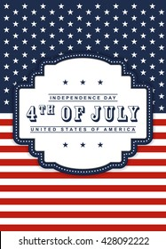 4th of July Independence day background.