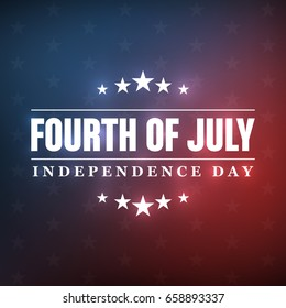 4th of July - Independence Day background design - Greeting Card