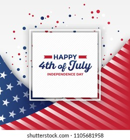 4th of July - Independence Day greeting card design