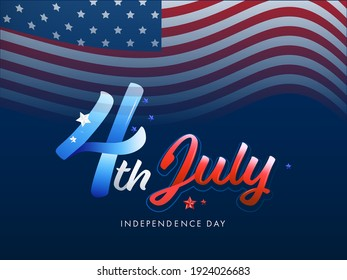 4th of July independence day holiday illustration