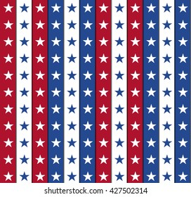 4th of July independence day Seamless background, Easy to edit. Perfect for invitations or announcements.