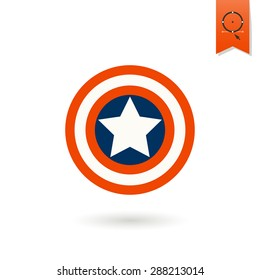 4th of July, Independence Day of the United States, Simple Flat Icon. Star Vector