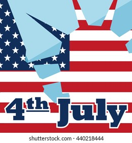4th July, Independence Day of USA. July 4th a National Holiday.