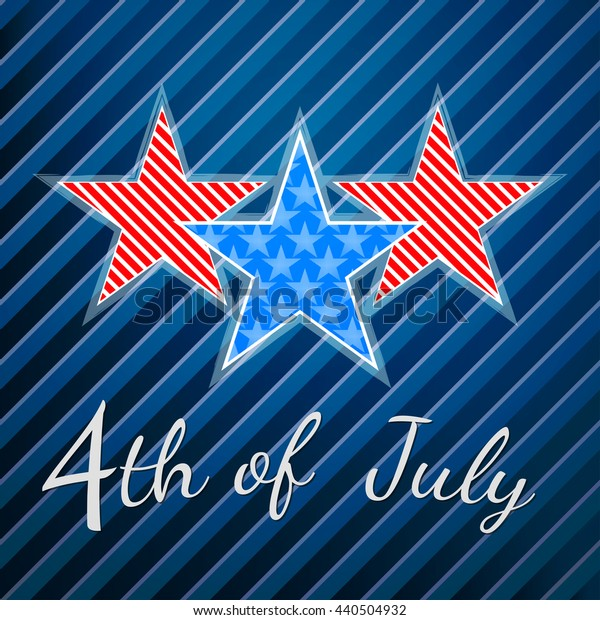 4th of July. Independence Day Vector Design.