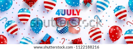 4th july poster template independence day stock vector royalty free