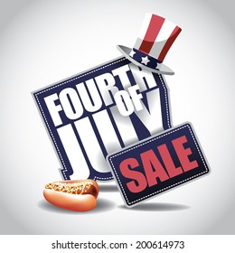 4th of July Sale icon EPS 10 vector