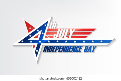 4th of July, United Stated independence day, American national day, design logo badge emblem, vector illustration
