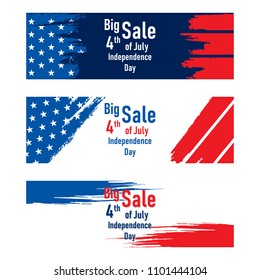 4th of july USA independence day sale banner design