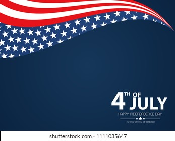 4th of July. USA Independence Day. 4th of July typography illustration