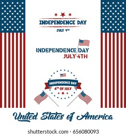 4th july usa independence day vector stock vector royalty free 4th of july usa independence day vector illustration creative background banner and greetings m4hsunfo