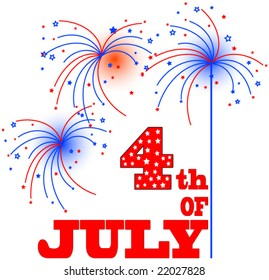 4th of July Vector Graphic.